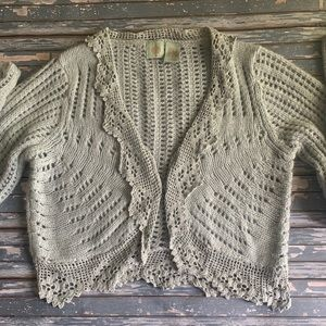 Anthropologie Cropped Cardigan By HWR
